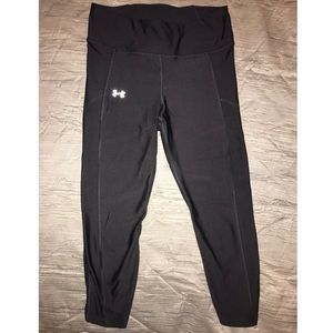 Under armor compression leggings, grey, 3/4 length
